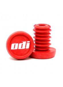 """Koncovky řidítek ODI """"Push-in"""" pack 20 ks, červené"""
