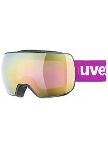 Lyžařské brýle UVEX  COMPACT FM, black mat dl/mirror pink (2026) Množ. Uni
