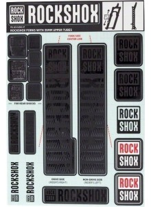 ROCKSHOX DECAL KIT 35MM STEALTH