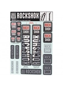 ROCKSHOX DECAL KIT 35MM DC WHITE