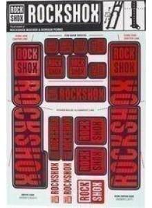 11.4318.003.518 - ROCKSHOX DECAL KIT 35MM DC OXY RED Množ. Uni