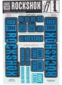ROCKSHOX DECAL KIT 35MM DC WATER  BLU