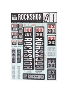 11.4318.003.497 - ROCKSHOX DECAL KIT 30/32/RS1 WHITE Množ. Uni