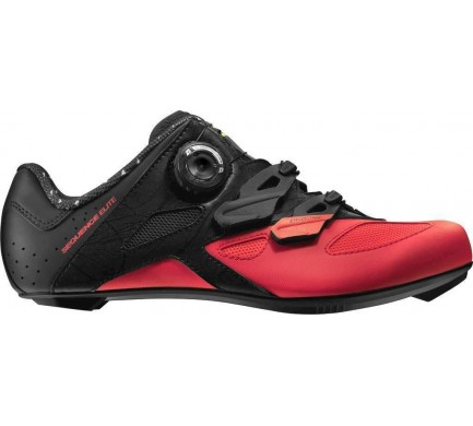 18 MAVIC SEQUENCE ELITE TRETRY PIRATE BLACK/FIERY CORAL 401559 4,5
