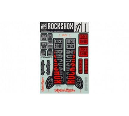 00.4318.021.001 - ROCKSHOX DECAL KIT TLD 35MM SILVER/ORANGE Množ. Uni