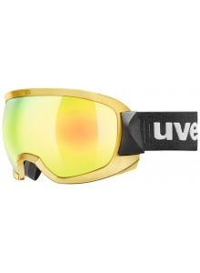Lyžařské brýle UVEX CONTEST FM chrome, mirror gold dl/clear (6030) Množ. Uni