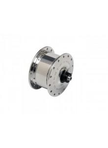 Nábojové dynamo SON XS, 28 děr, šířka 74 mm, osa 8 mm, stříbrná pro BROMPTON
