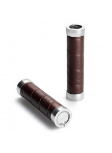 Gripy BROOKS Slender grips - 130+130 mm - hnědé