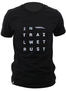 Tričko ROCK MACHINE unisex černé vel. M logo IN TRAI LWET RUST