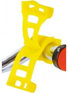 Silikonový držák ROTO pro mobil a navigaci žlutý