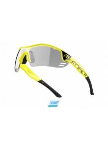 Brýle FORCE RACE PRO fluo, čirá skla