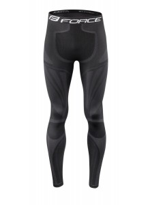 Kalhoty/funkční prádlo FORCE FROST  černé S-M