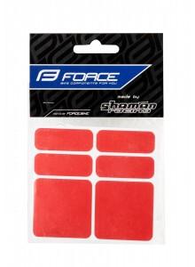 Nálepky FORCE reflexní sada 6 ks, červené