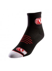 Ponožky P.I.Elite black logo IP red