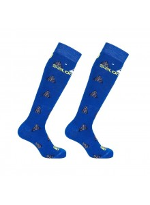 Ponožky SAL.Team JR 2pack blue/sulphur MK 19/20