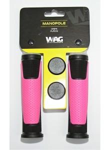 Gripy WAG double D černo/růžové 125 mm