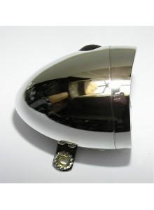 Světlo přední BTA retro 3 white LED baterie chrom