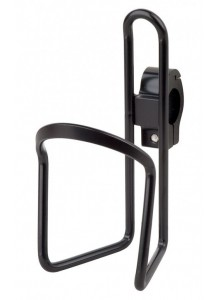 Košík na láhev AL PRO-T na řidítka černý s objímkou