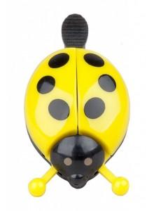 Zvonek beruška roztahující křídla žlutá