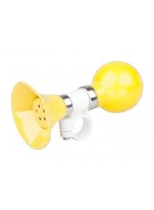 Houkačka kovová rovná krátká žlutá