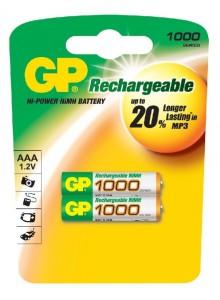 Baterie GP AAA NiMH 1000mAh