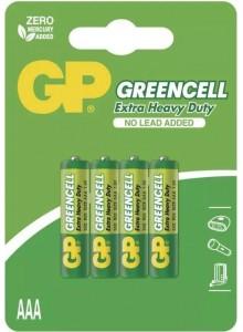 Baterie GP R3G,AAA greencell blistr
