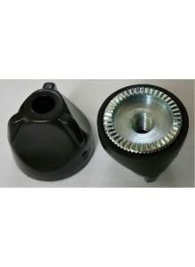 Matice rychloupínacího táhla M5 ocel/plast černá