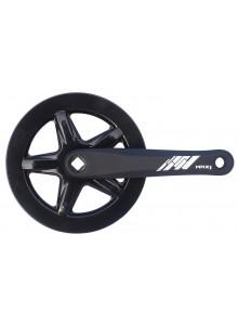 Kliky 1-převodník MAX1 single 42z/175mm černý,kryt