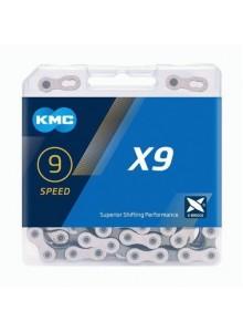 Řetěz KMC X-9 silver/grey box 114čl