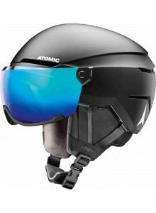 Lyž. helma ATOMIC Savor visor stereo black 63-65cm