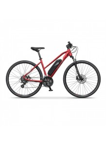 "Crossový elektrobicykel Apache Matta E6 deep red, 18"""