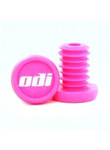 """Koncovky riadidel ODI """"Push-in"""" pack 20 ks, růžové"""