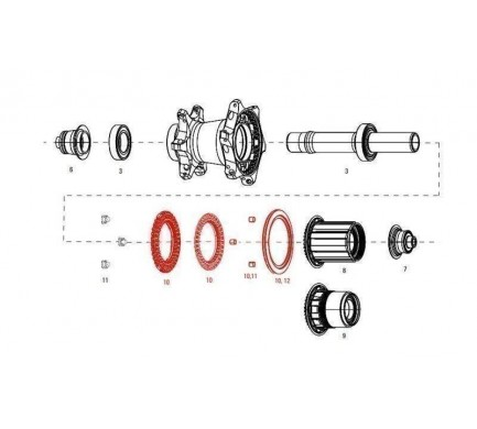 11.2018.035.000 - CLUTCH ASSY WITH SEAL REAR COGNITION NSW Množ. Uni