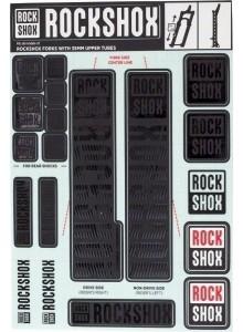 ROCKSHOX DECAL KIT 35MM STEALTH