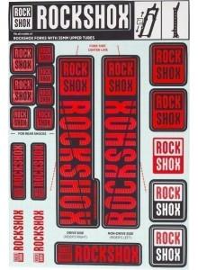 11.4318.003.509 - ROCKSHOX DECAL KIT 35MM OXY RED Množ. Uni