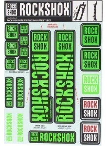 ROCKSHOX DECAL KIT 35MM NE05 GREEN