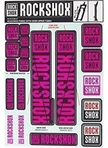 ROCKSHOX DECAL KIT 35MM MAGENTA