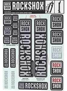 ROCKSHOX DECAL KIT 35MM POLAR GREY