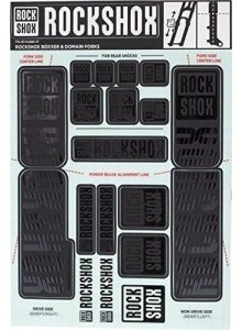 ROCKSHOX DECAL KIT 35MM DC STEALTH