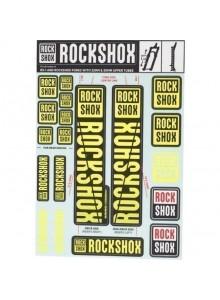 ROCKSHOX DECAL KIT 35MM DC NE01 YELLOW