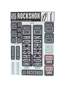 ROCKSHOX DECAL KIT 35MM DC POLAR GREY
