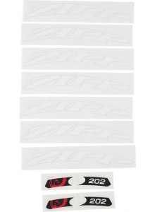 11.1918.030.000 - ZIPP DECAL SET 1 WHEEL 202 ZIPPLOGO MATTEWHT Množ. Uni