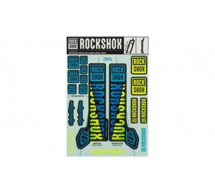 00.4318.021.002 - ROCKSHOX DECAL KIT TLD 35MM BLUE/YELLOW Množ. Uni