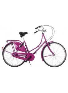 Retro bicykel holandského typu Columbus ružová