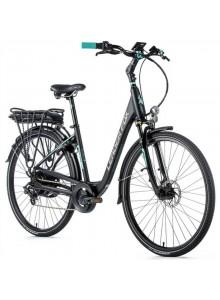 "Elektrobicykel Leader Fox INDUKTORA 28"", 2020-1 18"" čierna matná/svetlo zelená"
