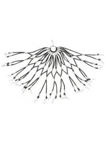 Gumičkový výplet zadného blatníka - čierny