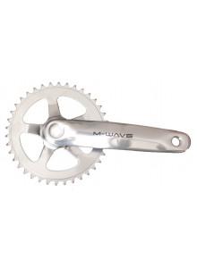 Hliníkové kľuky na bicykel M-Wave 38 zubov