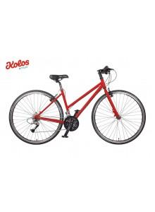 Dámsky turistický bicykel Kolos, 44 cm, červený