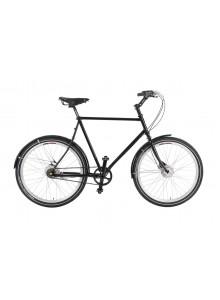 Mestský bicykel Traffic s remeňovým pohonom -  čierna