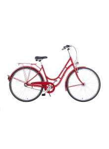 "Manchester 28"" Red mestský retro bicykel"